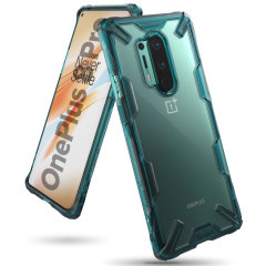 Keep your OnePlus 8 Pro protected from bumps and drops with the Ringke Fusion X tough case in Turquoise Green. Featuring a 2-part, Polycarbonate design, this case lives up to military drop test standards so you can rest assured that your device is safe.