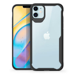 """Perfect for iPhone 12 (5.4"""") owners looking to provide exquisite protection that won't compromise the iPhone's sleek design, the NovaShield from Olixar combines the perfect level of protection in a sleek black and clear bumper package."""