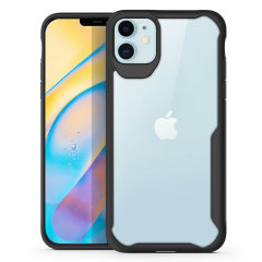 """Perfect for iPhone 12 Max (6.1"""") owners looking to provide exquisite protection that won't compromise the iPhone's sleek design, the NovaShield from Olixar combines the perfect level of protection in a sleek black and clear bumper package."""