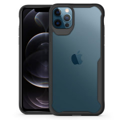 "Perfect for iPhone 12 Pro (6.1"") owners looking to provide exquisite protection that won't compromise the iPhone's sleek design, the NovaShield from Olixar combines the perfect level of protection in a sleek black and clear bumper package."