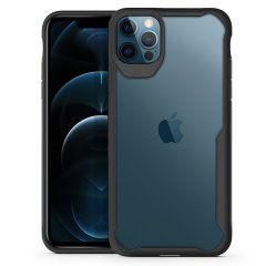 """Perfect for iPhone 12 Pro Max (6.7"""") owners looking to provide exquisite protection that won't compromise the iPhone's sleek design, the NovaShield from Olixar combines the perfect level of protection in a sleek black and clear bumper package."""