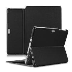 Olixar Leather-style Microsoft Surface Go 1 Folio Stand Case - Black