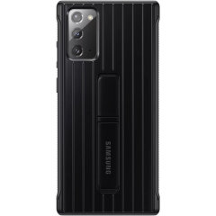 This official Samsung protective standing case in black is designed and military-grade certified to provide premium protection for your Samsung Galaxy Note 20. The case includes an integrated kickstand at the back to provide convenience watching videos.