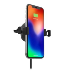 Now you can charge your phone, glance at your GPS and keep your eyes on the road. The charge stream vent mount with Qi wireless technology is optimized for Apple & Samsung Fast Charge. It delivers 10W of power to your device while conveniently holding it.