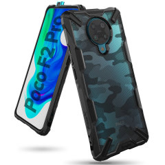 Keep your Xiaomi Poco F2 Pro protected from bumps and drops with the Rearth Ringke Fusion X Design tough case in Camo Black. Featuring a 2-part, Polycarbonate design, this case lives up to military drop-test standards whilst being incredibly stylish.