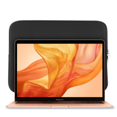 "The black Olixar universal neoprene sleeve is a slim, form-fitting and extremely durable case for your Macbook Air 13"" 2020 laptop. With a unique, sleek and stylish design."