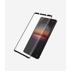 Introducing the premium range PanzerGlass glass screen protector in black. Designed to be shock and scratch resistant, PanzerGlass offers the ultimate protection, while also matching the colour of your stunning Sony Xperia 1 II.
