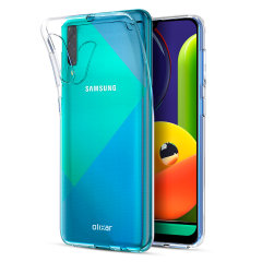 Custom moulded for the Samsung Galaxy A50S, this clear FlexiShield gel case from Olixar provides excellent protection against damage as well as a slimline fit for added convenience.