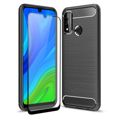 Flexible rugged casing with a premium matte finish non-slip carbon fibre and brushed metal design, the Olixar Sentinel case in black keeps your Huawei P Smart 2020 protected from 360 degrees with the added bonus of a tempered glass screen protector