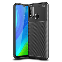 Olixar Carbon Fibre Huawei P Smart 2020 Case - Black