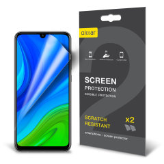 Keep your Huawei P Smart 2020 screen in pristine condition with this Olixar scratch-resistant screen protector 2-in-1 pack. Ultra responsive and easy to apply, these screen protectors are the ideal way to keep your display looking brand new.