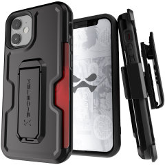 The iPhone 12 Iron Armor 3 case in Black from Ghostek provides your iPhone 12 with fantastic all-around protection. Includes a card slot for added convenience.