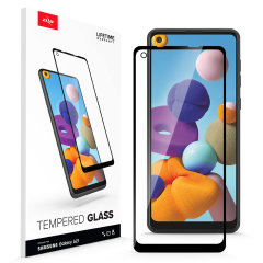 Protect all of your Samsung Galaxy A21's beautiful display with an edge to edge tempered glass screen protectors from Zizo. With superb clarity and a durable construction this is the perfect way to keep your screen looking good.
