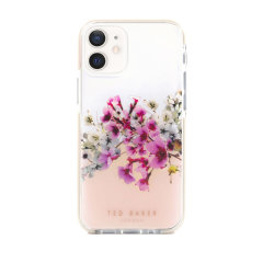 Form-fitting and bulk-free, the Jasmine clear case for iPhone 12 mini from Ted Baker, has an ethereal floral aesthetic while also offering superlative anti-shock protection for your device from drops, scrapes and scratches.