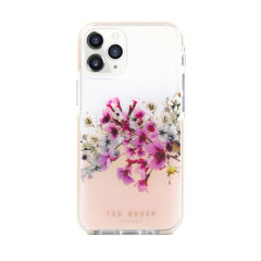 Form-fitting and bulk-free, the Jasmine clear case for iPhone 12 Pro Max from Ted Baker, has an ethereal floral aesthetic while also offering superlative anti-shock protection for your device from drops, scrapes and scratches.
