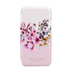 Ted Baker Jasmine iPhone 12 Pro Max Anti-Shock Folio Case - Rose Gold