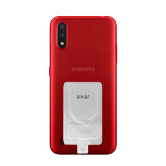 Add wireless charging to your Samsung Galaxy A01 device without replacing your back cover or case with this Olixar Ultra Thin Qi Wireless Charging Adapter.