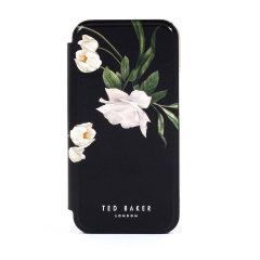Ted Baker Elderflower iPhone 12 Pro Anti-Shock Folio Case-Black/Silver