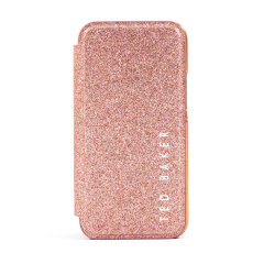 Form-fitting and bulk-free, the Glitsie case for iPhone 12 Pro Max from Ted Baker offers ultimate protection, whilst featuring an eye-catching, glitter appearance. Not only does it look great, you can make sure you are too with the built in, inside mirror