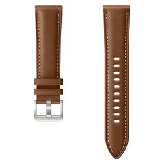 Add sophistication and a premium look to your Samsung Galaxy Watch 3 with this luxury stitch leather strap in Brown from Official Samsung. With crisp detailing this strap compliments the Galaxy Watch perfectly. Strap is 20mm which is a Small/Medium.
