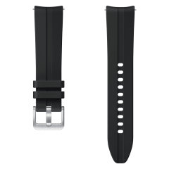 The Samsung Watch 3 Sport Strap S/M in Black is soft, breathable and durable as it's a silicone sport band making it easy to take your Galaxy watch 3 from work to workouts and everywhere in between. completely sweatproof this band is perfect for fitness.