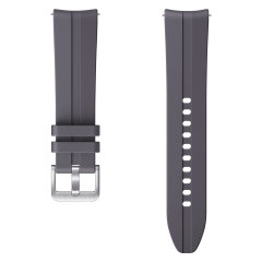 The Samsung Watch Sport Strap S/M in Grey is soft, breathable and durable as it's a silicone sport band making it easy to take your Samsung Smartwatch from work to workouts and everywhere in between. completely sweatproof this band is perfect for fitness.