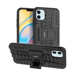 Protect your iPhone 12 from bumps and scrapes with this black ArmourDillo case. Comprised of an inner TPU case and an outer impact-resistant exoskeleton, the Armourdillo not only offers sturdy and robust protection, but also a sleek modern styling.