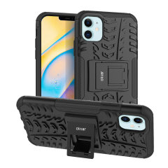 Protect your iPhone 12 Max from bumps and scrapes with this black ArmourDillo case. Comprised of an inner TPU case and an outer impact-resistant exoskeleton, the Armourdillo not only offers sturdy and robust protection, but also a sleek modern styling.