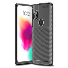 Olixar Carbon Fibre Motorola One Hyper Case - Black
