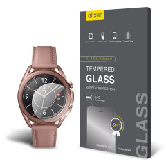 This ultra-thin tempered glass screen protector for the Samsung Galaxy Watch 3 41mm from Olixar offers toughness, high visibility and sensitivity all in one package.