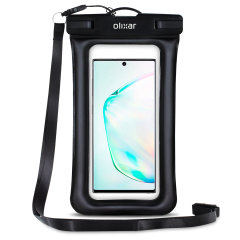 The Olixar Action Universal Waterproof Case for Samsung Galaxy Note 10 is a protective case providing 100% smartphone waterproofing and touchscreen operation up to a size of 6.8 inches for activities that require near water or even underwater adventures.