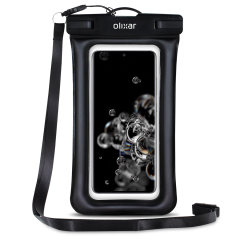 The Olixar Action Universal Waterproof Case for Samsung S20 Ultra is a protective case providing 100% smartphone waterproofing and touchscreen operation up to a size of 6.8 inches for activities that require near water or even underwater adventures.