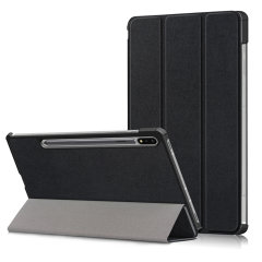 Olixar Leather-Style Samsung Galaxy Tab S7 Plus Case - Black