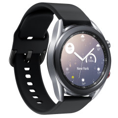 Olixar Soft Silicone Samsung Watch 20mm Strap - Black