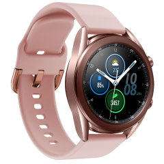 Treat your brand new Samsung Watch to the ultra-high quality soft silicone strap from Olixar in rose gold. Comfortable, durable and stylish, this strap is the perfect way to personalise your Samsung Watch. Strap is 22mm which is a Large/Medium.