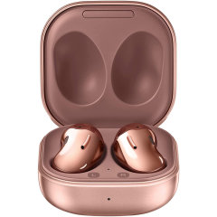 Samsung brings you the next generation of headphones with the Samsung Galaxy buds Live Mystic Bronze. Created with cutting edge technology these wireless Galaxy Buds are superior in sound quality, microphone quality and being convenient all round.