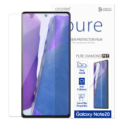 Protect all of your Samsung Galaxy Note 20 5G's beautiful display with an edge to edge tempered glass screen protectors from Araree. With superb clarity & a durable construction this is the perfect way to keep your screen protected from scratches & drops.