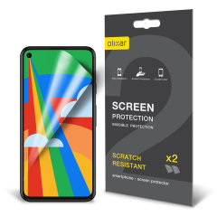 Keep your Google Pixel 5 Film screen in pristine condition with this Olixar scratch-resistant film screen protector 2-in-1 pack.
