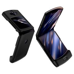 This Spigen Ultra thin fit Cover Case in Black is the perfect way to keep your Motorola Razr 2019 smartphone protected. The ultra thin Cover wraps your Motorola Razr 2019 in luxury padded cases ensuring your Razr is safe from impacts.