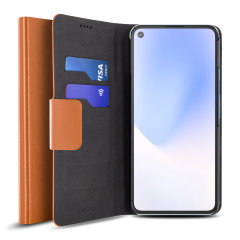Protect your Google Pixel 4a 5G with this durable and stylish brown leather-style wallet case by Olixar. What's more, this case transforms into a handy stand to view media.