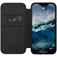 Wrapped in supple Horween leather, this sleek & functional rugged case from Nomad, offers serious protection for your iPhone 12 Pro Max. With 3 card slots, shock absorbing bumpers and raised bezels all around, you can enjoy 360 protection all the time.