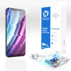 The Whitestone Dome Glass screen protector for iPhone 12 mini uses a UV lamp with a proprietary UV adhesive installation to ensure a total and perfect fit for your device. Featuring 9H hardness for absolute protection, as well as 100% touch sensitivity.