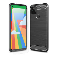 Don't compromise on your Google Pixel 5's safety with this black, rugged case from Olixar. The case looks good, offers 360 degree protection and even comes with a tempered glass screen protector. Feel safe with Olixar.