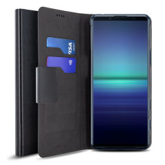 Olixar Sony Xperia 5 II Leather-Style Wallet Stand Case - Black