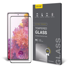 Keep your Samsung Galaxy S20 Fan Edition screen in pristine condition with this Olixar Tempered Glass  screen protector, designed for full coverage of your phone's screen. This design leaves enough space for a case too.