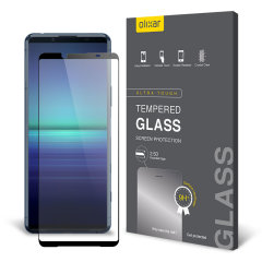 Keep your Sony Xperia 5 II screen in pristine condition with this Olixar Tempered Glass screen protector. It's designed to cover and protect even the edges of the phone's display, whilst also having black edges which match the Xperia 5 II perfectly.