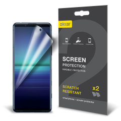 Olixar Sony Xperia 5 II Film Screen Protector - 2-in-1 Pack