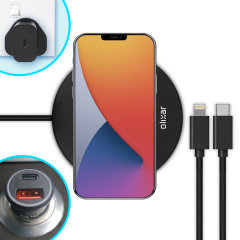 The complete fast charging starter pack for iPhone 12 Pro is finally here from Olixar. Featuring 2x USB-C to Lightning cables, an 18W fast charger, a 36W car adapter and 10W wireless charging pad, you can stay powered up in the car, office or at home.