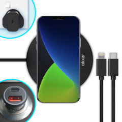 The complete fast charging starter pack for iPhone 12 Pro Max is finally here from Olixar. Featuring 2x USB-C to Lightning cables, an 18W fast charger, a 36W car adapter and 10W wireless charging pad, you can stay powered up in the car, office or at home.