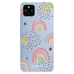 Lovecases Google Pixel 4a 5G Abstract Rainbow Case - Clear